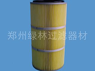 黄色防油防水防污滤材滤筒